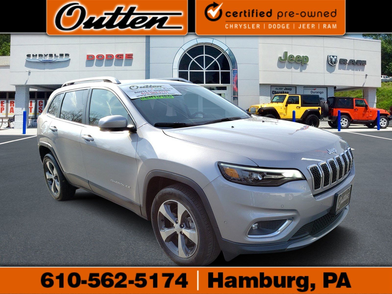 Certified Pre Owned Jeep >> Certified Pre Owned 2019 Jeep Cherokee Limited Sport Utility In